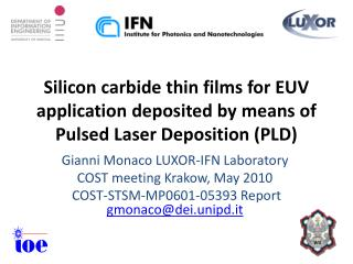 Silicon carbide thin films for EUV application deposited by means of Pulsed Laser Deposition PLD