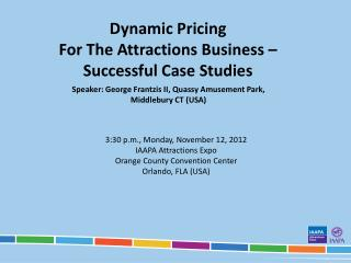 Dynamic Pricing  For The Attractions Business   Successful Case Studies