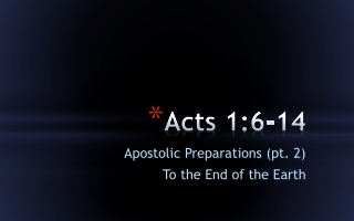 acts 1:6-14
