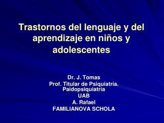 Trastornos del lenguaje y del aprendizaje en ni os y adolescentes