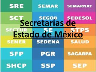 Secretar as de Estado de M xico