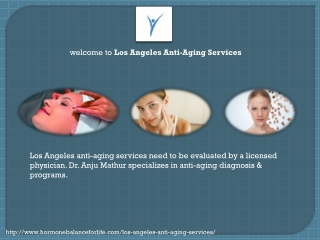 Los Angeles anti aging services