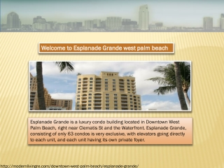 Esplanade Grande west palm beach