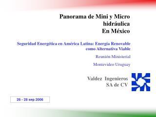 Seguridad Energ tica en Am rica Latina: Energ a Renovable como Alternativa Viable  Reuni n Ministerial  Montevideo Urugu