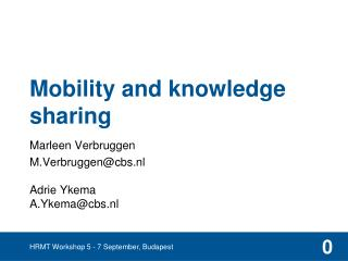 Mobility and knowledge sharing