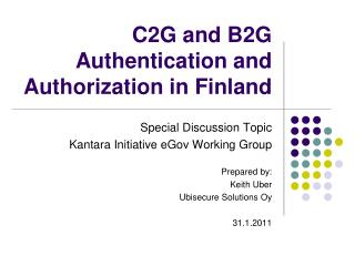 C2G and B2G Authentication and Authorization in Finland