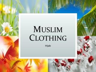 Muslim clothing Variety