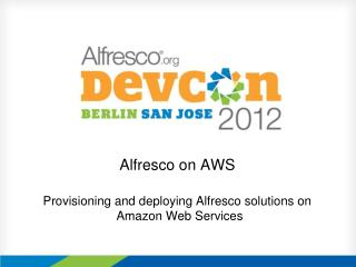 Alfresco on AWS