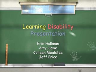 Learning Disability Presentation