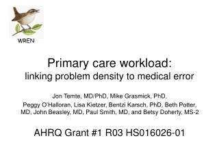 Primary care workload: linking problem density to medical error