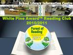 White Pine Award  Reading Club 2010