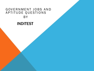 Government jobs and aptitude questions