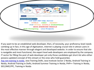 SEO Training B.Tech | B.E | BCA | MCA Training | B.Sc |M.Sc