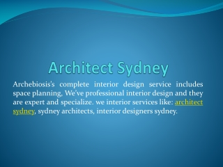 Best Interior Design Services in Australia