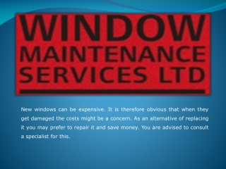 Appoint Professionals for All Your Window Maintenance Servic