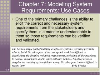 chapter 7: modeling system requirements: use cases
