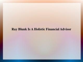 Raymond Blunk | Total Financial Group