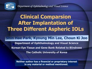 shin hae park, kyoung min lee, choun ki joodepartment of ophthalmology and visual sciencekorean eye tissue and gene bank