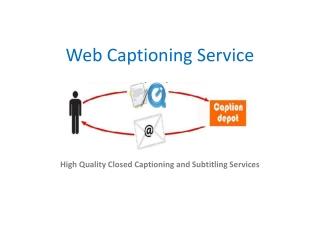 web captioning service