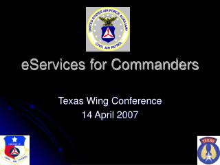 EServices for Commanders