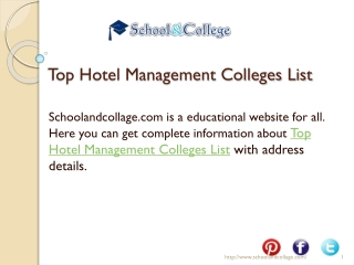 Get All College Details with Complete Information at Schoola