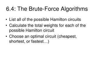 6.4: The Brute-Force Algorithms