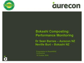 Bokashi Composting: Performance Monitoring