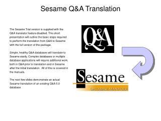 Sesame QA Translation