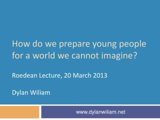 How do we prepare young people for a world we cannot imagine