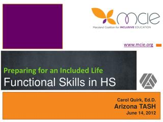 Preparing for an Included Life Functional Skills in HS