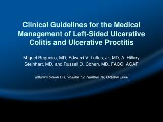 Clinical Guidelines for the Medical Management of Left-Sided Ulcerative Colitis and Ulcerative Proctitis