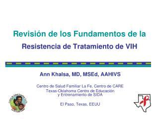 Revisi n de los Fundamentos de la Resistencia de Tratamiento de VIH