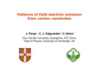 Patterns of field electron emission  from carbon nanotubes