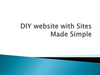 DIY website with Sites Made Simple