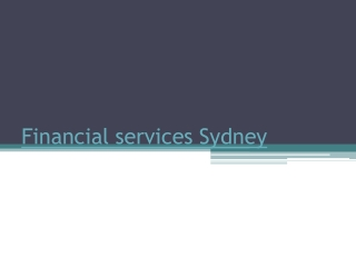 Financial advisor Sydney