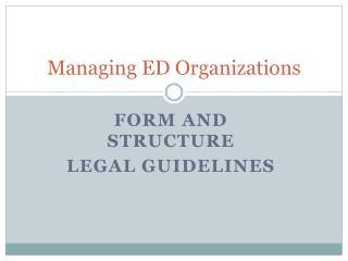 Managing ED Organizations