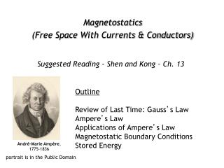 Magnetostatics Free Space With Currents  Conductors