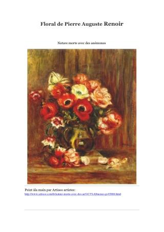 Floral de Pierre Auguste Renoir -- Artisoo