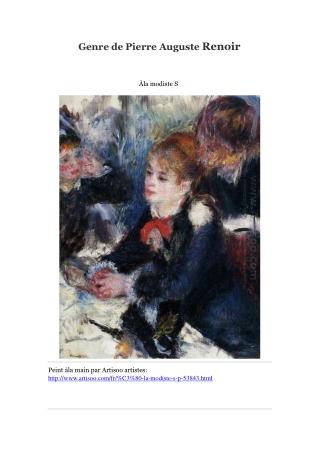 Genre de Pierre Auguste Renoir -- Artisoo