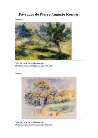 Paysages de Pierre Auguste Renoir -- Artisoo