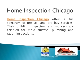 Home Inspection Services-Which You Can Customize According T