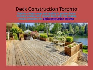 Deck Construction Toronto