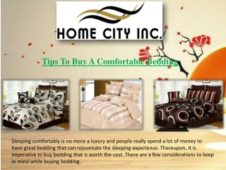 Tips to buy a comfortable bedding