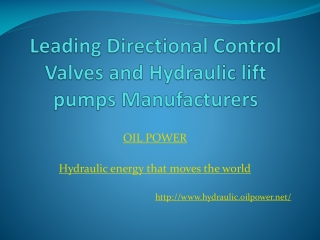 Directional control valve manufacturers and exporters India