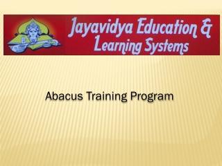 Abacus-Training
