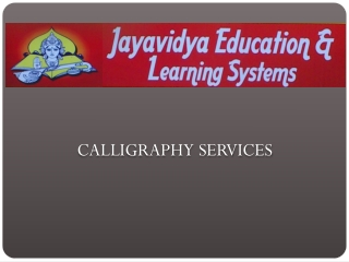 Calligraphy-Services