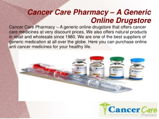 Select The Right Anticancer Drugs Pharmacy