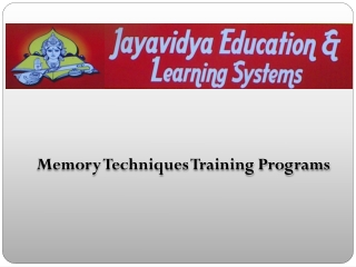 Memory-Techniques-Training