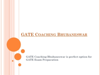 GATE Coaching Bhubaneswar
