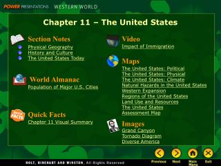 Chapter 11   The United States